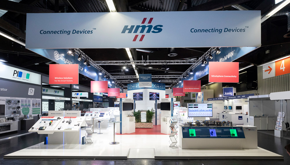 HMS Booth at the SPS Trade Fair in Nuremberg, Germany