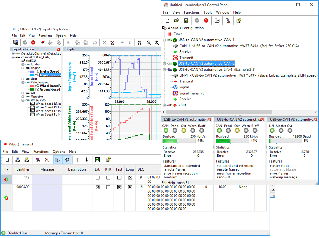 canAnalyser lite/standard - CAN Tool for Development